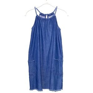 Old Navy denim A-line dress with front pockets